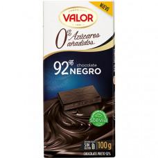 Шоколад чисто черный 92% какао без сахара (Валор) 0,100 кг