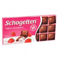Шоколад молочный с клубничным йогуртом (Шогеттен) 0,100 кг
