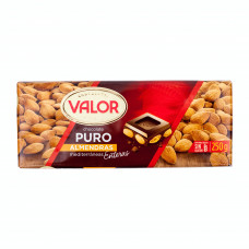 Шоколад чисто черный с цельным миндалем (Валор) 0,250 кг