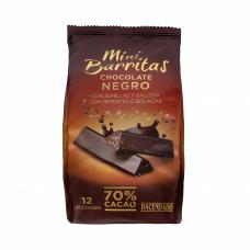 Шоколад экстра черный 70% какао с хрустяшей крошкой и печеньем (Асендадо) 0,130 кг