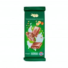 Шоколад молочный с орехом фундук (Асендадо) 0,100 кг