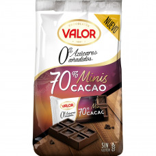 Шоколад экстра черный 70% какао без сахара (Валор) 0,144 кг
