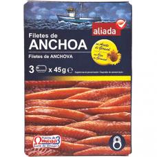 Анчоусы (филе) в подсолнечном масле
