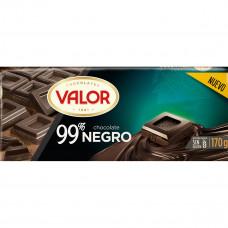 Шоколад экстра черный 99% какао (Валор) 0,170 кг