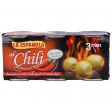 Оливки фаршированные острым перцем чили (Асендадо) 0,360кг