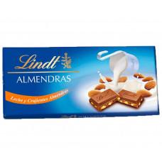 Шоколад молочный с миндалем (Линдт) 0,100кг