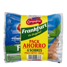 Сосиски франкфуртские классические (Кампофрио) 3 уп. по 0,560кг
