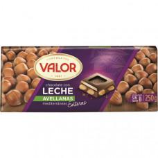 Шоколад молочный с лесным орехом (Валор) 0,250 кг