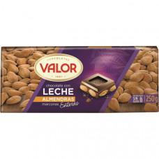 Шоколад молочный с миндалем (Валор) 0,250 кг