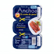 Анчоусы (филе) в растительном масле (Асендадо) 87г