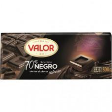 Шоколад экстра черный 70% какао Валор 0,300 кг
