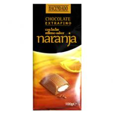 Шоколад молочный с апельсиновой начинкой (Асендадо) 0,100 кг