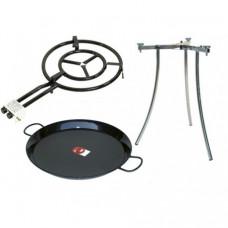 Набор для паэльи сковорода (паэльера эмалированная) Ø 42 см + Конфорка Ø 40 см + Подставка