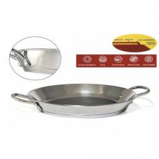 Сковорода-паэльера из нержавеющей стали Ø 32 см (с двойным дном)