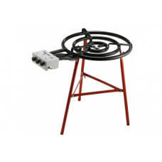 Газовая конфорка для сковороды-паэльеры Ø 70 см (3 контура) + Подставка тринога (красные палки)